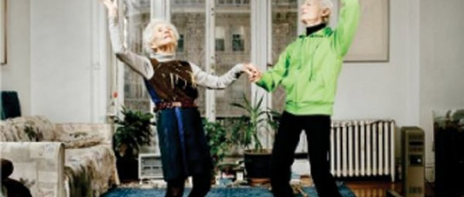 How does dancing promote brain reconditioning in the elderly?