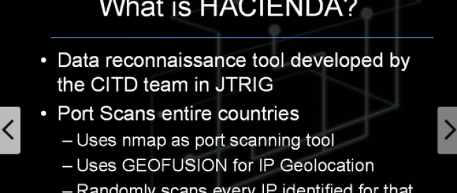 HACIENDA Port Scanning Program which is targeting systems in 27 countries