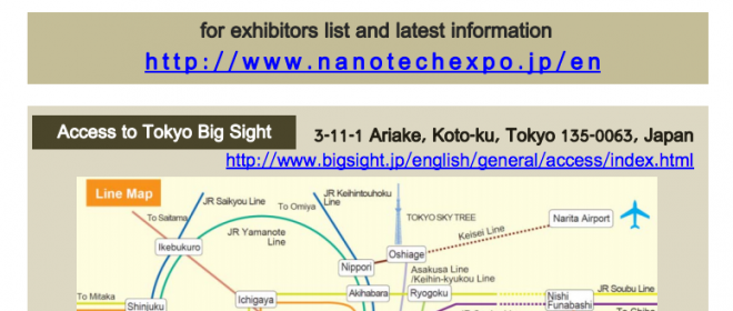nano tech 2013 – The12th International Nanotechnology Exhibition & Conference